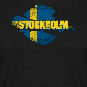 Stockholm - Swedish Flag Sweden Design - Men's T-Shirt