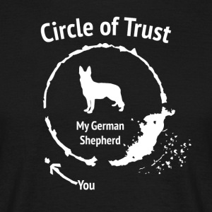 Funny German Shepherd Shirt - Circle of Trust - Men's T-Shirt