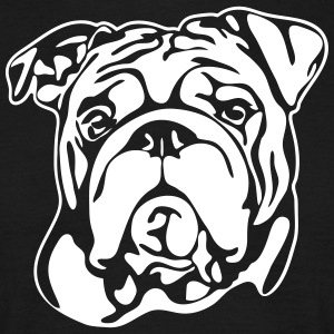 ENGLISH BULLDOG PORTRAIT - Men's T-Shirt