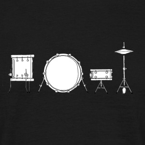 Drums Black & White - Mannen T-shirt