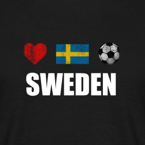 De svenske Football Soccer T-Shirt - T-skjorte for menn