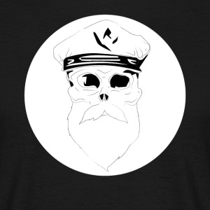 Mens T-shirt Hipster kaptajn Piratenkopf sømand - Herre-T-shirt