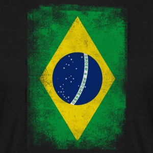 Brasilien-Flagge Proud Brazilian Vintage Distressed - Männer T-Shirt