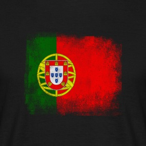 Portugal Flag Proud Portoguese Vintage Distressed - T-shirt herr