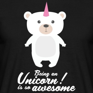 Unicorn! Bear! - T-shirt herr