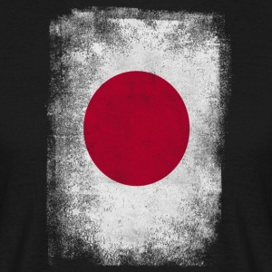 Japan Flag Proud Japanese Vintage Distressed - T-shirt herr