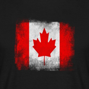 Canada Flag Proud Canadian Vintage Distressed - Men's T-Shirt