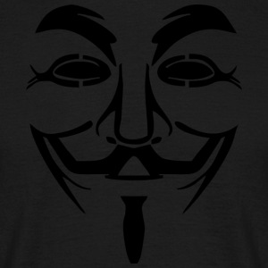 Vendetta Maske - Guy Fawkes (Anonymous) - Männer T-Shirt