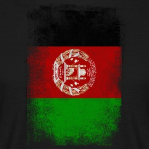 Afghanistan Flag Proud Afghan Vintage Distressed - T-shirt herr