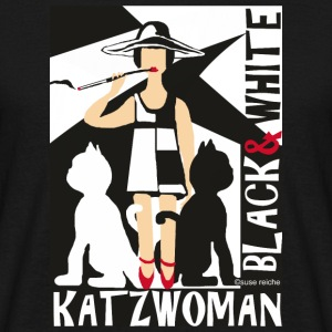 KATZ WOMAN black & white - Men's T-Shirt