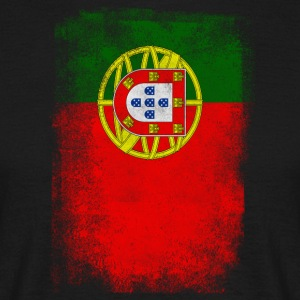 Portugal Flag Proud Portoguese Vintage Distressed - T-shirt Homme