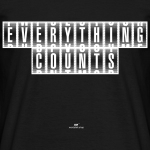 Everything Counts wit - Mannen T-shirt