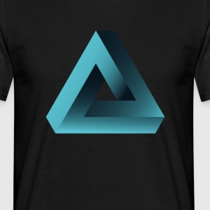 illusion optisk illusion pyramid illuminati ne - T-shirt herr