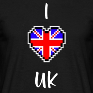 I love UK - Männer T-Shirt