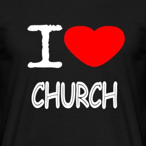 I LOVE CHURCH - Männer T-Shirt