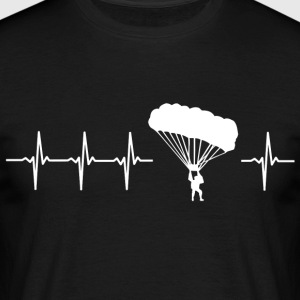 I like paragliding (paragliding heartbeat) - Men's T-Shirt