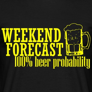 WEEKEND FORECAST 100 BEER yellow - Men's T-Shirt