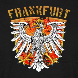 Francfort ville Wappenadler Design - Gold Edition - T-shirt Homme