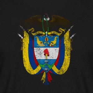 Colombian Coat of Arms Colombia Symbol - T-shirt herr