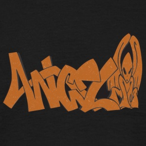 angel graffiti grunge - Men's T-Shirt
