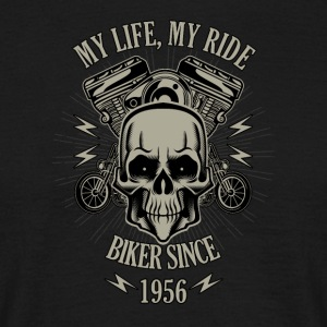 Gift for Biker - Bygget i 1956 - T-skjorte for menn