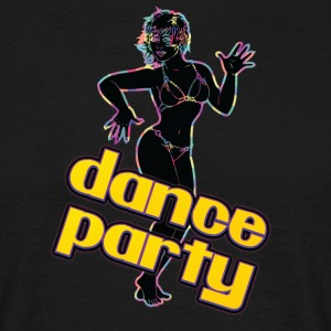 dance party med sexig tjej svart - T-shirt herr