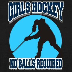 Girls Hockey No Balls Required - Men's T-Shirt