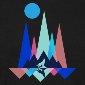 Mountain Wolf Polygon - T-shirt herr