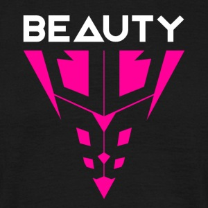 Beauty Hvit / Rosa - T-skjorte for menn