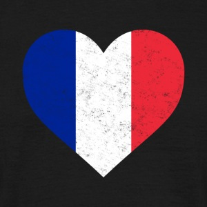France Flag Shirt Heart - French Shirt - Men's T-Shirt