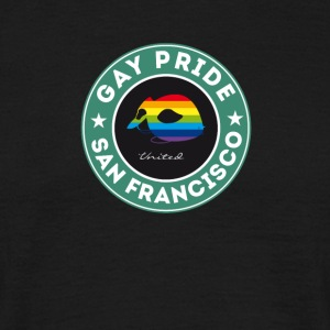 Gay San Francisco raket rainbow etikett mask pr - T-shirt herr