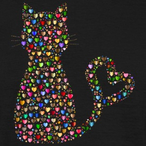 Chat du coeur - T-shirt Homme