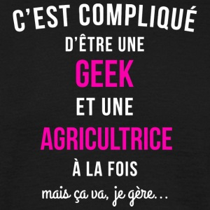 T Shirt Geek Femme Agricultrice Drôle - T-shirt Homme