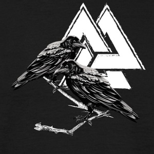 Hugin Munin! Odin! Viking! Vikingen! - Mannen T-shirt