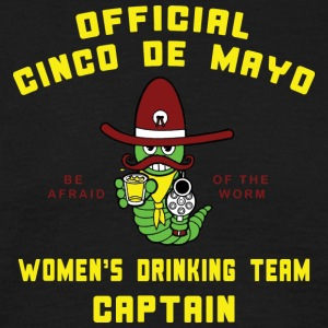 Cinco de Mayo Vrouwen Drinkende Team Captain - Mannen T-shirt