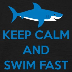 Zwemmen / float: Keep Calm And Swim Fast - Mannen T-shirt