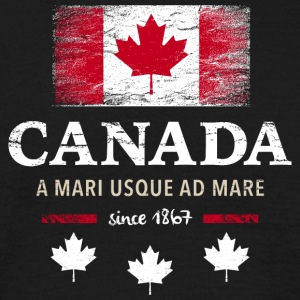 Canada Canada Amerika Maple Leaf flagg banner - T-skjorte for menn