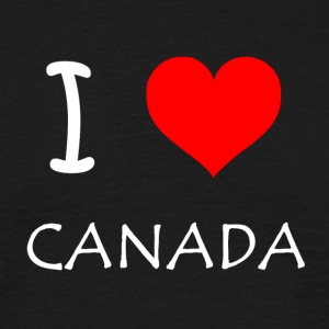 I Love Canada - T-skjorte for menn