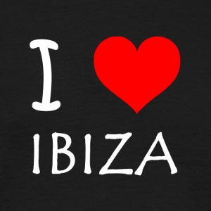 I Love Ibiza - T-skjorte for menn