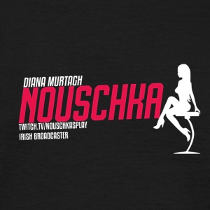 Nouschkasplay Sporty Logo Twitch pink_white_01 - Männer T-Shirt