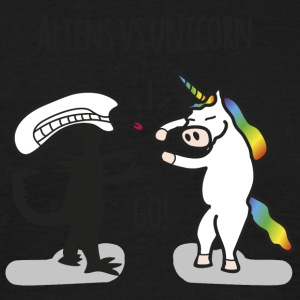Aliens vs. Unicorn - Männer T-Shirt