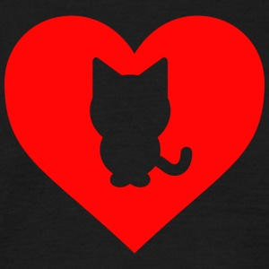 Heart Cat - Men's T-Shirt