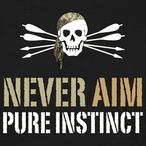 NEVER AIM - Pure Instinct = Instinctive Archery - Men's T-Shirt