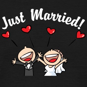 Söt Just Married - T-shirt herr