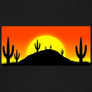 Cactuses in the desert - Männer T-Shirt