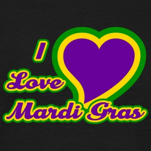 I Love Mardi Gras - Men's T-Shirt