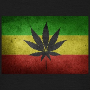 Jamaica Flag and Marijuana - Men's T-Shirt
