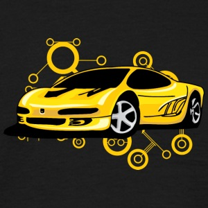 Yellow Ferrari - Mannen T-shirt