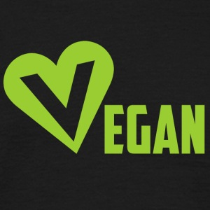 Vegan heart - Men's T-Shirt