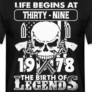 1978 födelse Legends skjorta - T-shirt herr